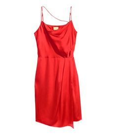 af3b5db91b612b Red H M Satin Top with Lace Hi-Lo Tank  20 CUTE