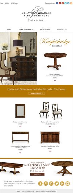 KNIGHTSBRIDGE COLLECTION #jonathancharles #Furniture #InteriorDesign #decorex #hpmkt
