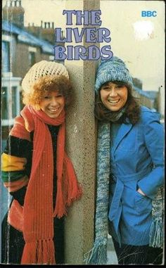 The Liver Birds - Carol(Elizabeth Estensen) and Sandra (Nerys Hughes) series with series 10 (a revival) in 1996 1970s Childhood, My Childhood Memories, Nice Memories, The Liver Birds, British Comedy, British Sitcoms, Vintage Television, Vintage Tv, Vintage Items