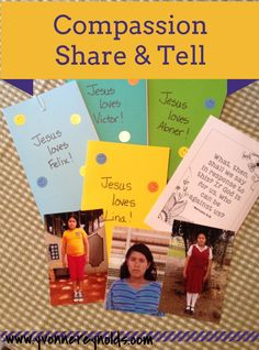 Do you ever get stuck on what to write to your Compassion sponsored child? Here are some simple things I mailed to my sponsored kids this month. #compassion #letterwriting