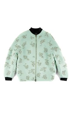 Doppio Seta And Coto Bomber Jacket by Giambattista Valli