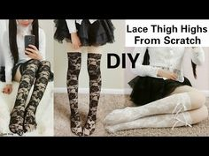 DIY Sexy Lace Thigh Highs/Socks (From Scratch) in 15 Minutes - YouTube