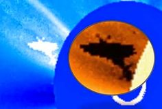 Giant UFO near the Sun - April 9, 2015