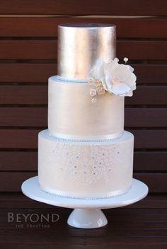 Wedding Cake by beyondthefrosting - http://cakesdecor.com/cakes/273991-wedding-cake