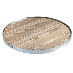This wood and metal serving tray is perfect for serving drinks at a Thanksgiving feast. | $72