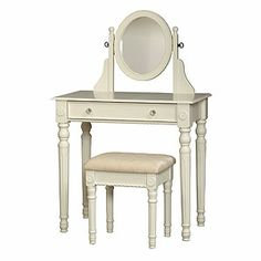 White Victoria Vanity Set | World Market