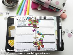 The Noveltea Corner: Planner Decorate With Me (August 10)