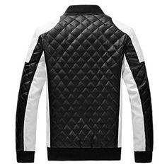 2016 Fashion PU Leather Jacket Men 2016 Hot Sale Casual New Design Men Leather Jacket Plus. Click visit to buy