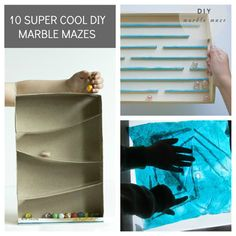 10 Super Cool DIY Marble Mazes - I'm definitely trying the box one, but in a shoebox instead of a wooden tv tray.