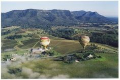 Action Packages - Hope Estate - Hunter Winery- Hot Air Ballooning - You may be flying over hills, rivers, forests, vineyards, or farmland. The views are breathtaking.