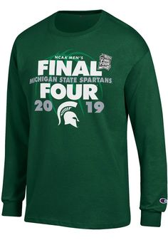2a028ea37 Champion Michigan State Spartans Green 2019 NCAA Final Four Long Sleeve T  Shirt - 14754299