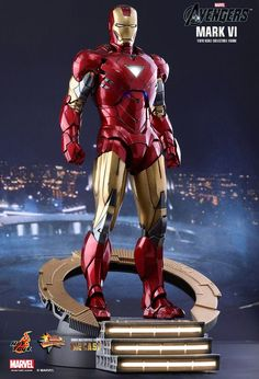 Mark 6 (Iron man 2 - The Avengers) New Iron Man, Iron Man Art, Coleccionables Sideshow, Sideshow Freaks, Sideshow Collectibles, All Iron Man Suits, Marvel Tony Stark, Hot Toys Iron Man, Iron Man Avengers