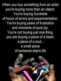 appreciate artists, writers, creatives