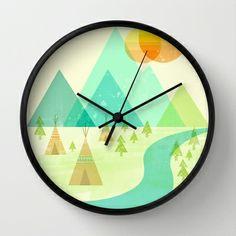 Native Lands Wall Clock by Jenny Tiffany - $30.00
