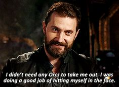 Richard Armitage talking about filming the Battle of Moria in The Hobbit. Haha