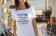 "t-shirt luźny fason ""KULTURA"" - AK-Creativo - Koszulki z napisami"