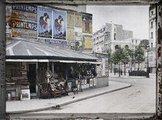 Le boulevard Raspail et la rue du Montparnasse vus de la rue Notre-Dame-des-Champs.  Paris (VIearr.), France, 22 juillet 1914.
