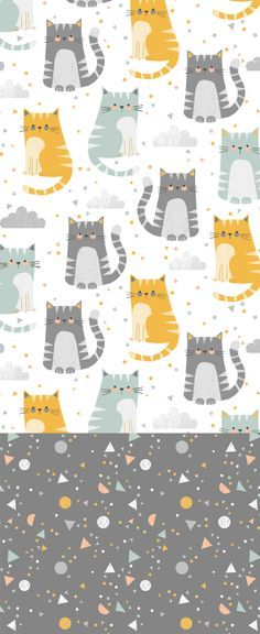 Cats and Dogs Yoga Cats Dogs Wallpapers Cute Cats and Yoga Wallpapers Cats and Dogs Yoga Cats and Dogs Wallpapers Cute Cats and Dogs Yoga Cats Wallpapers and Cute Cats and Dogs Yoga Cats Dogs Wallpapers Cute kitten from yoga Save Images Kids Patterns, Pretty Patterns, Textures Patterns, Cat Wallpaper, Wallpaper Backgrounds, Cat Pattern Wallpaper, Hippie Wallpaper, Kids Prints, Surface Pattern Design