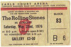 The #Rolling #Stones, 1976 #Concert #Ticket