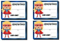 Dzień Kobiet w przedszkolu - medale, dyplomy, inspiracje - Pani Monia Origami, Diy And Crafts, Preschool, Family Guy, Valentines, Education, Fictional Characters, Crafting, Valentine's Day Diy