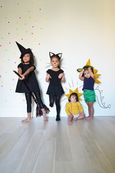 How to Make Halloween Headbands - could use the cat for bat ears??