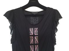 THOMAS WYLDE CRYSTAL EMBELLISHED BLACK T-SHIRT  #THOMASWYLD #TSHIRT #Casual