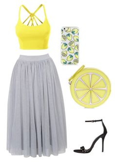 """""""Lemonade 🍋"""" by alee4254 ❤ liked on Polyvore featuring LE3NO, Accessorize and Michael Kors"""
