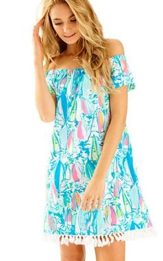 ba853fd52b4 Marble Off The Shoulder Dress In Beach And Bae   168 Shoulder Dress