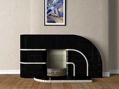New Art Deco Streamline Moderne fire surround