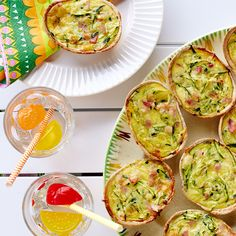 Want to create a quick, easy yet tasty quiche? Try Old El Paso Stand 'N Stuff Mini Whole grain tortillas and fill with yummy zucchini and bacon mix
