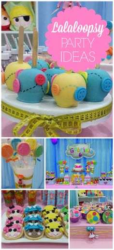 So much cuteness at this Lalaloopsy party! See more party ideas at… Farm Birthday, 4th Birthday Parties, 1st Birthdays, Hungry Caterpillar Party, Lalaloopsy Party, Childrens Party, Party Time, Party Party, Party Ideas