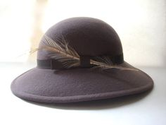 Vintage Doeskin Hat by HazelRoberts on Etsy, $30.00