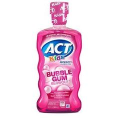 ACT Kids Bubble Gum Blowout Anticavity Fluoride Rinse, Best Mouthwash, Kids Bubbles, How To Prevent Cavities, Oral Hygiene, Oral Health, Health Care, Bubble Gum, Dentistry, 6 Years