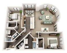 Sims House Plans, House Layout Plans, Modern House Plans, Small House Plans, House Floor Plans, Layouts Casa, House Layouts, Sims House Design, Small House Design