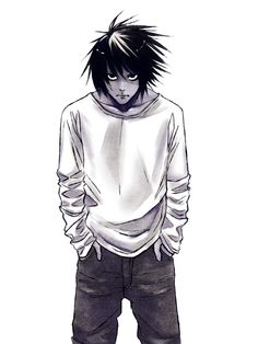 He is called L,full name L Lawliet.I wish somebody can cosplay him during my birthday party as he is my idol XD