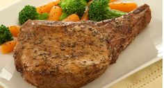 Pork chops are seasoned with paprika and thyme for a home-style flavor and appearance.