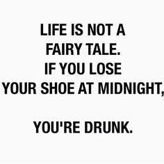 Life is not a fairy tale | Quote | Black & white | More on Fashionchick.nl