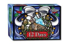 "The holiday-themed 12 Days takes the familiar ""Twelve Days of Christmas"" song and twists it into a quick-playing card game. Over twelve r. Days Of Christmas Song, Christmas Carol, Family Christmas, Pokemon Buddy, Christmas Board Games, Moshi Monsters, Playing Card Games, The End Game, Holiday Cards"