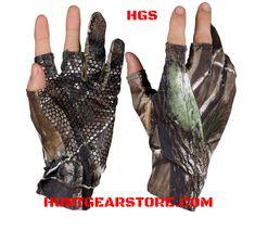REALTREE Mens Camo Dot Palm Jersey Gl OVES Shooting Fishing,Hunting Size MEDIUM