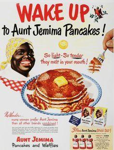 Aunt Jemima Pancakes retro 1960 and 1970 Old Advertisements, Retro Advertising, Retro Ads, Retro Vintage, Vintage Food, Vintage Signs, 1950s Ads, Vintage Stuff, Vintage Kitchen