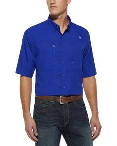 Ariat Blue Venttek Short Sleeve Shirt