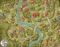 Elven Tower is creating maps and adventures for D&D, pathfinder, and other RPGs Fantasy City, Fantasy Map, Dark Cave, Village Map, Stuff For Free, Middle Aged Man, Forgotten Realms, Call Of Cthulhu, Cartography