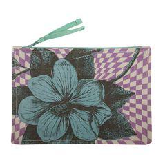 Thomas Paul // Vintage Lavender Floral Accessory Pouch