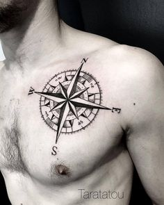 Taratatou — #tattoo #tatouage #rosedesvents #boussole #compass...