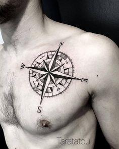 Taratatou — #tattoo #tatouage #rosedesvents #boussole #compass...