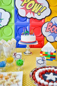 25 Ideas Superhero Lego Birthday Party Ideas For 2020 Lego Batman Party, Lego Batman Birthday, Harry Birthday, Avengers Birthday, Superhero Birthday Party, Boy Birthday Parties, Diy Birthday, Birthday Ideas, Batman Batman