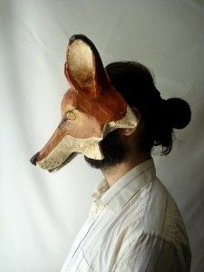 FOX Mask Original Folk Art by CaptainCat