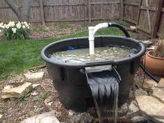 Diy 55 gallon barrel pond filter aquaponics filter for Homemade pond filter box