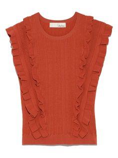 Lily Brown (Lily Brown) | | moda posta | tavşan çevrimiçi resmi posta siparişi sitesi örme kolsuz bluz (tank üstleri) fırfır