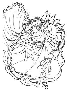 Anime Coloring Book Pages